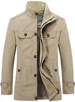 HengJia Men's Field Jacket Casual Windbreaker & Trench Jacket Large