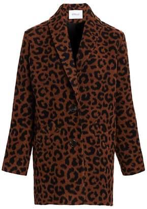 Derek Lam 10 Crosby Leopard-Print Cocoon Coat