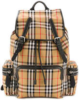 Burberry Haymarket Check multi-pocket backpack