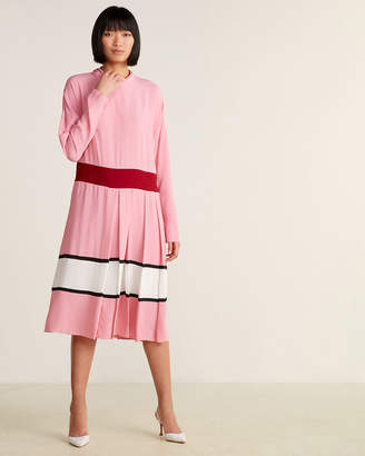 Marni Neck Tie Pleated Dress