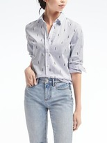 Banana Republic Dillon-Fit Lipstick Print Shirt
