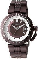 Edwin BONDED Men's 3 Hand-Date Watch, Stainless Steel Case with Stainless Steel Band