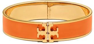 Kira Enameled Raised-Logo Hinged Bracelet