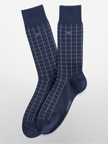 Calvin Klein Cotton Blend Grid Print Socks
