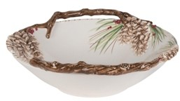 Fitz & Floyd Closeout! Forest Frost Centerpiece Bowl