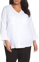 Eileen Fisher Plus Size Women's Organic Cotton Gauze Shirt