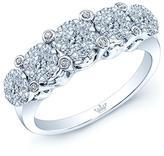 Ice 1/2 CT TW Diamond 14K White Gold 5-Stone Wedding Band