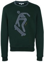 Carven skateboarding patch sweatshirt