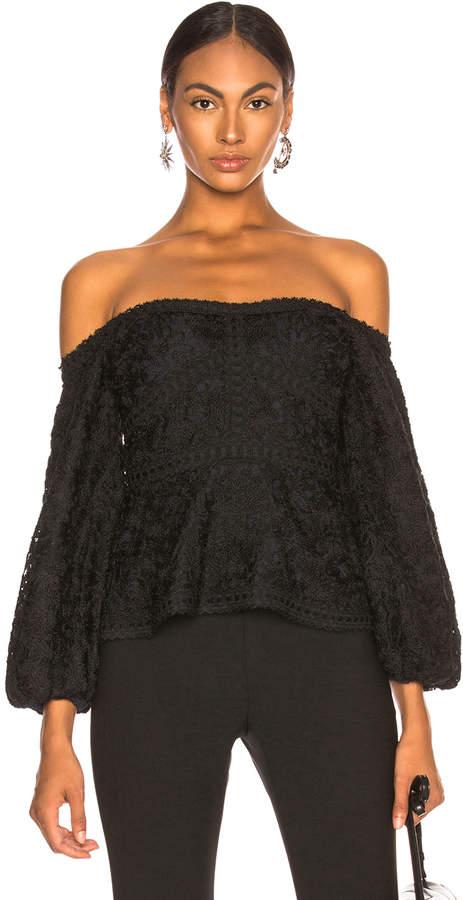 Alexis Joscelin Top in Black Lace | FWRD