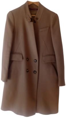 Comptoir des Cotonniers Camel Wool Coat for Women