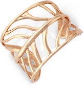 Vince Camuto Rose Gold-Tone Leaf-Inspired Openwork Cuff Bracelet