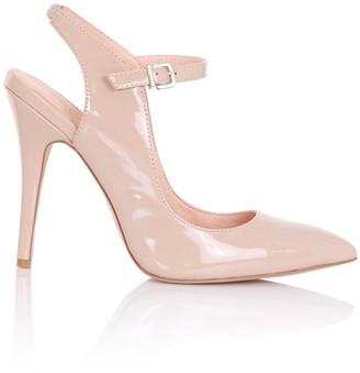 Paper Dolls Footwear Liliana Nude Patent Court Heels