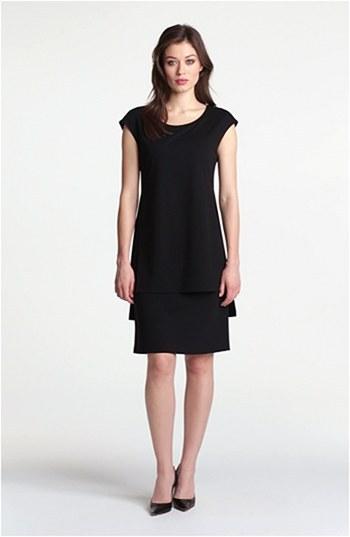 Lafayette 148 New York Layered Punto Milano Dress