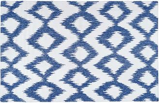 "One Kings Lane Kendall Flat-Weave Rug - Navy - 2'6""x8'"