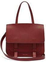 Mansur Gavriel Messenger Leather Shoulder Bag - Womens - Burgundy