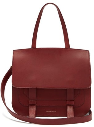 Mansur Gavriel Messenger Leather Shoulder Bag - Womens - Burgundy