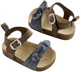 Carter's Newborn Baby Girl Bow Sandal Crib Shoes