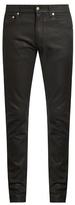 Alexander McQueen Coated-denim skinny jeans