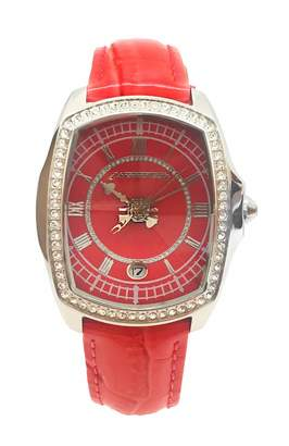 Chronotech Womens Analogue Quartz Watch with Leather Strap CT7896LS-97
