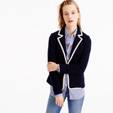 J.Crew Tipped sweater blazer in merino wool