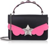 Les Jeunes Etoiles Black & Pink Fluo Top Handle Vega Mini Bag
