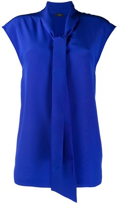 Joseph sleeveless neck-tied blouse