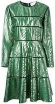 Maison Rabih Kayrouz panelled knee length dress - women - Silk/Metallic Fibre - 40