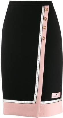 Elisabetta Franchi wrap-around pencil skirt