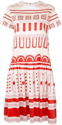 VIVETTA Print Mix Midi Dress