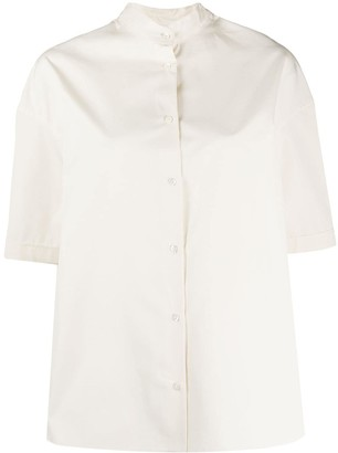 Aspesi Oversized Mandarin Collar Shirt