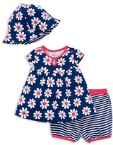 Offspring Infant Girls' Flower Print Tunic, Bloomers & Hat Set - Sizes 3-9 Months
