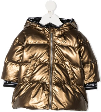 Givenchy Kids Metallic-Print Padded Jacket