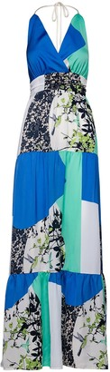 Maxi Empire Line Patchwork Dress By Conquista Fashion
