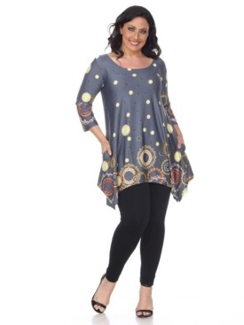 White Mark Plus Size Erie Tunic
