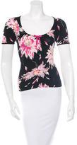 Blumarine Floral-Patterned Short Sleeve Top