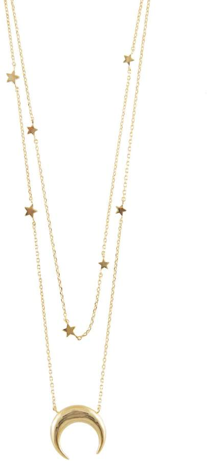 Wanderlust + Co Crescent & Constellation Gold Layered Necklaces