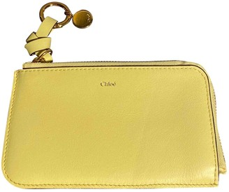 Chloé Yellow Leather Purses, wallets & cases