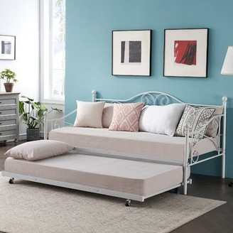Red Barrel Studioâ® Collision Twin Daybed with Trundle Red Barrel StudioA Color: White