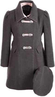 S. Rothschild Toddler Girls Bandmaster Coat With Hat