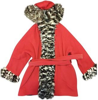 Saint Laurent Red Fox Coat for Women Vintage