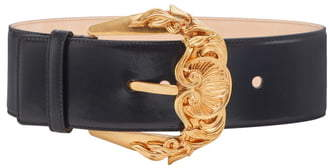 21638b69f1 First Line Baroque Buckle Leather Belt