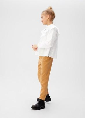 MANGO Ruffled blouse