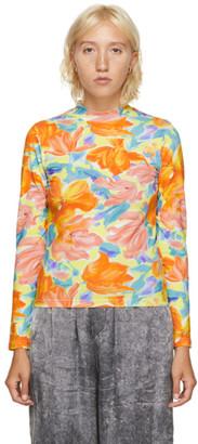 Balenciaga Multicolor Floral Print Turtleneck