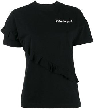 Palm Angels ruffled details T-shirt