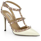 Valentino Bicolor Rockstud Patent Leather Slingback Pumps