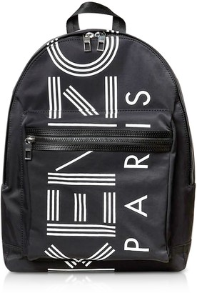 Kenzo Black Nylon Large Sport Backpack