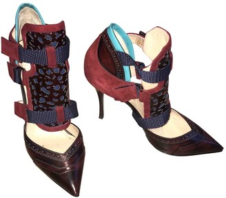 Nicholas Kirkwood Burgundy Leather Heels