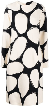 Marni Silk Oval-Print Dress