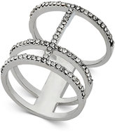 INC International Concepts Silver-Tone Pavé Open Bar Ring, Only at Macy's