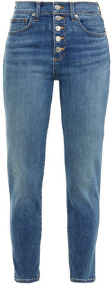 Veronica Beard Debbie Cropped High-rise Skinny Jeans